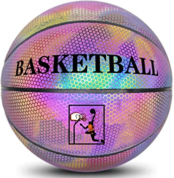 Glowing Reflective Basketball Boys Luminous Street Basketball Q1L5