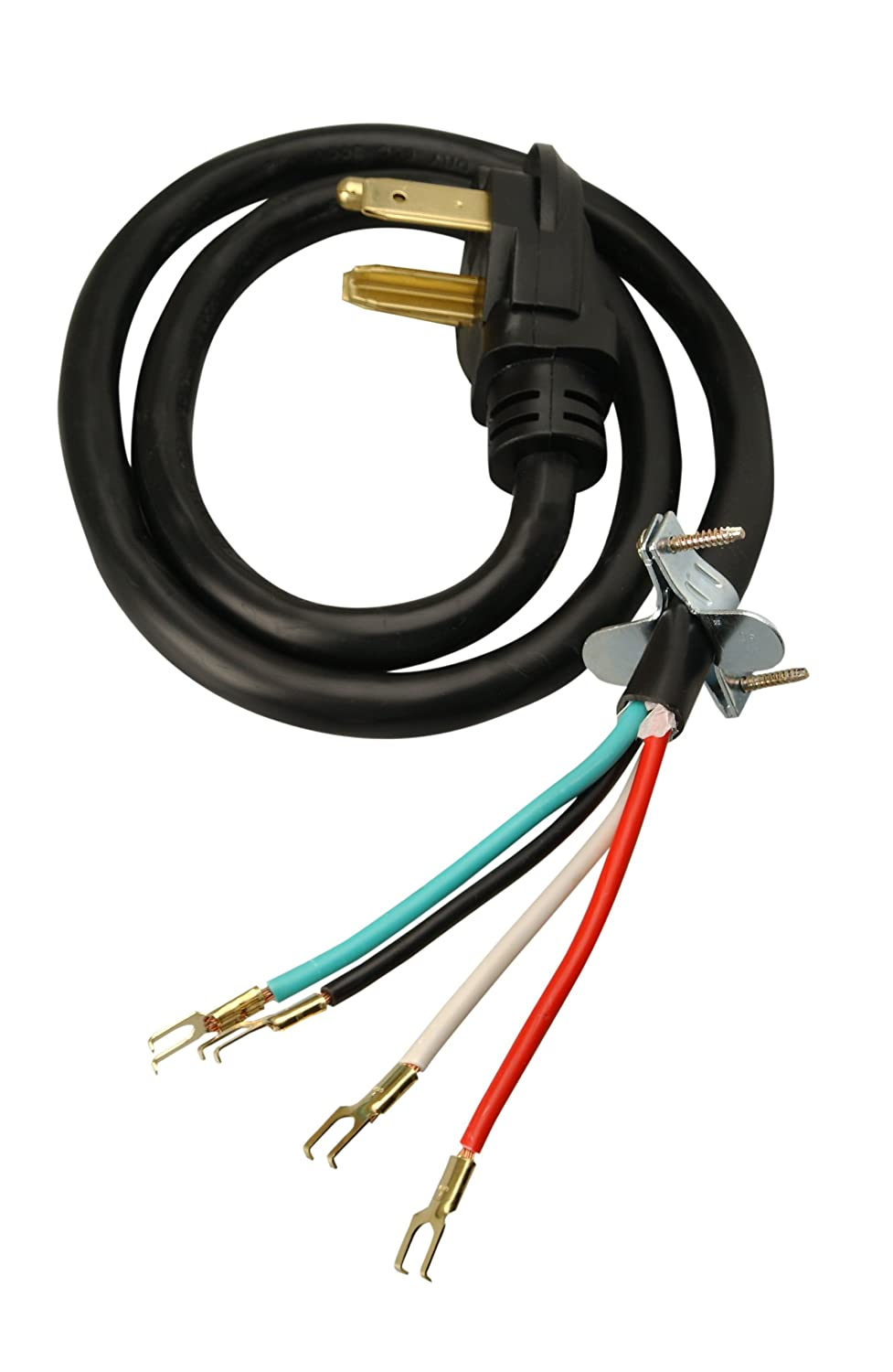 Coleman Cable 4-Wire Dryer Power Cord (30-Amp, 4 Ft) - Replacement Clothes  Dryer Power Cords - Amazon.com