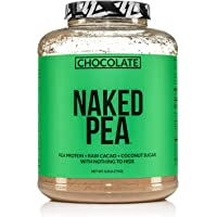 Chocolate Naked Pea Protein - Pea Protein Isolate from North American Farms - 5lb Bulk, Plant Based, Vegetarian & Vegan…