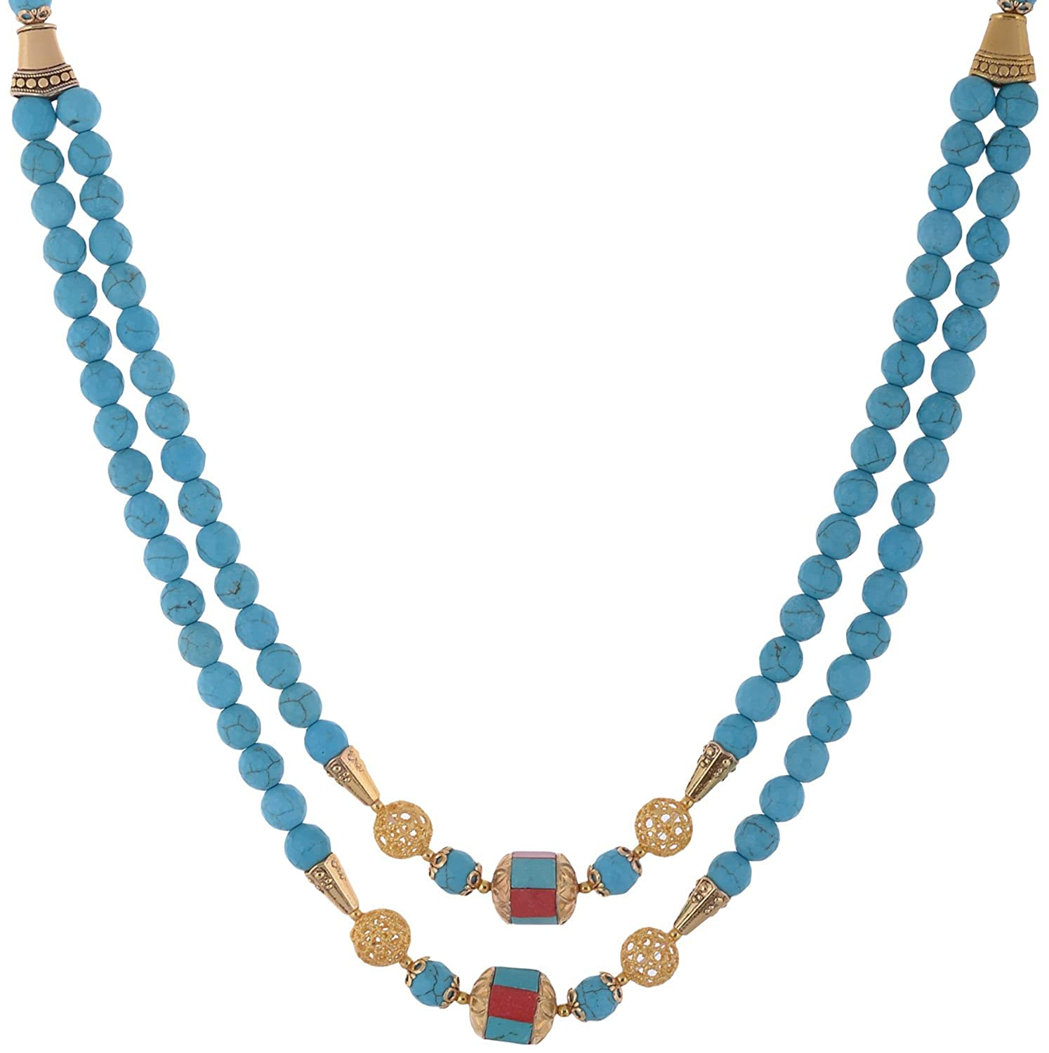 Buy Bead Designs Blue Crystal Chain for Women (BD1274) Online at ...