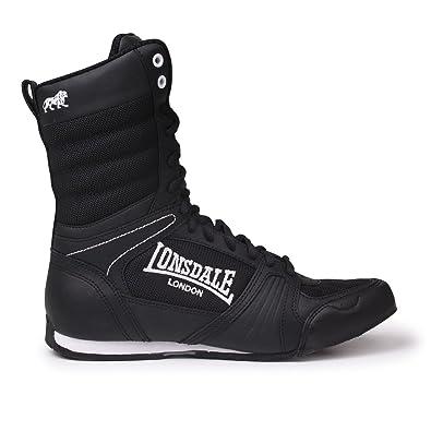 Lonsdale Contender Boxing alta stivali nero bianco