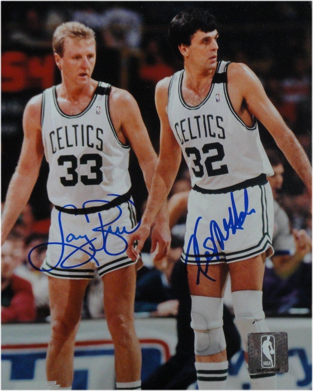 Larry Bird Kevin McHale Dual Signed Autograph 8x10 Photo Celtics Defense JSA
