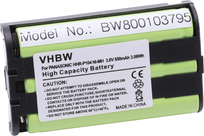 vhbw 1x batería NiMh de 850mAh (3.6V) Compatible con Panasonic KX-TW201, KX-TW211