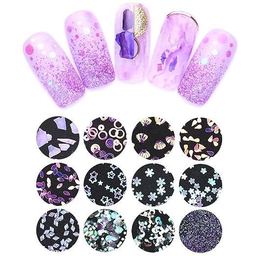 Amazon.com: Nicole agenda holográfica con purpurina ...