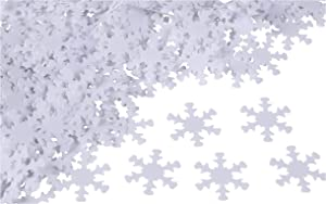 White Snowflake Christmas Confetti for Holiday Crafts and Parties (1.4 Ounces)