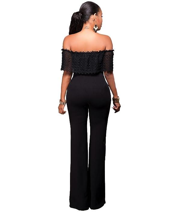 Vestidos Ropa De Moda Enterizo Para Mujer De Fiesta Sexys Largos Blancos Negros Casuales Elegantes VE0058 at Amazon Womens Clothing store: