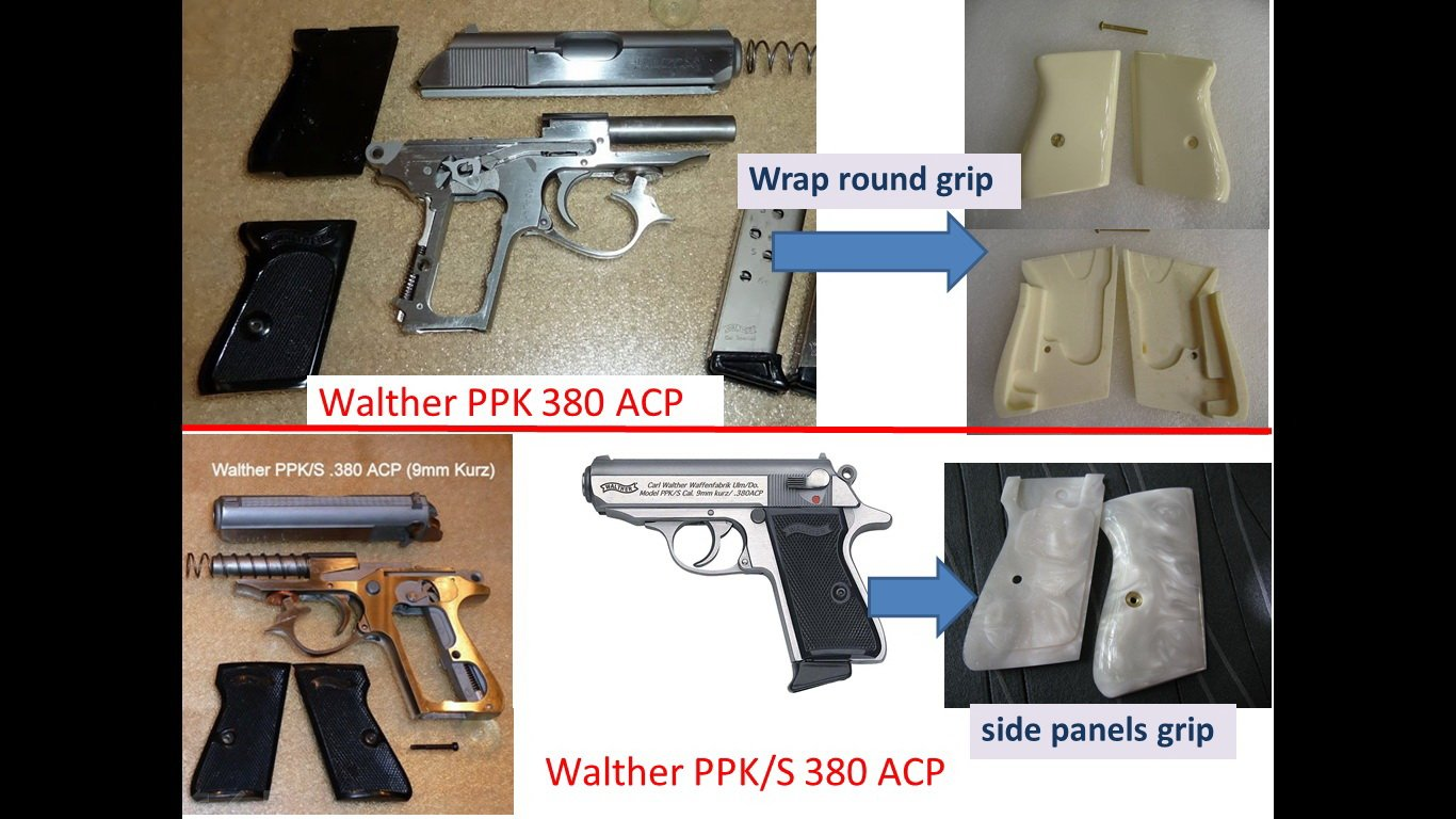amazon com grip for walther ppk s pistol white pearl color