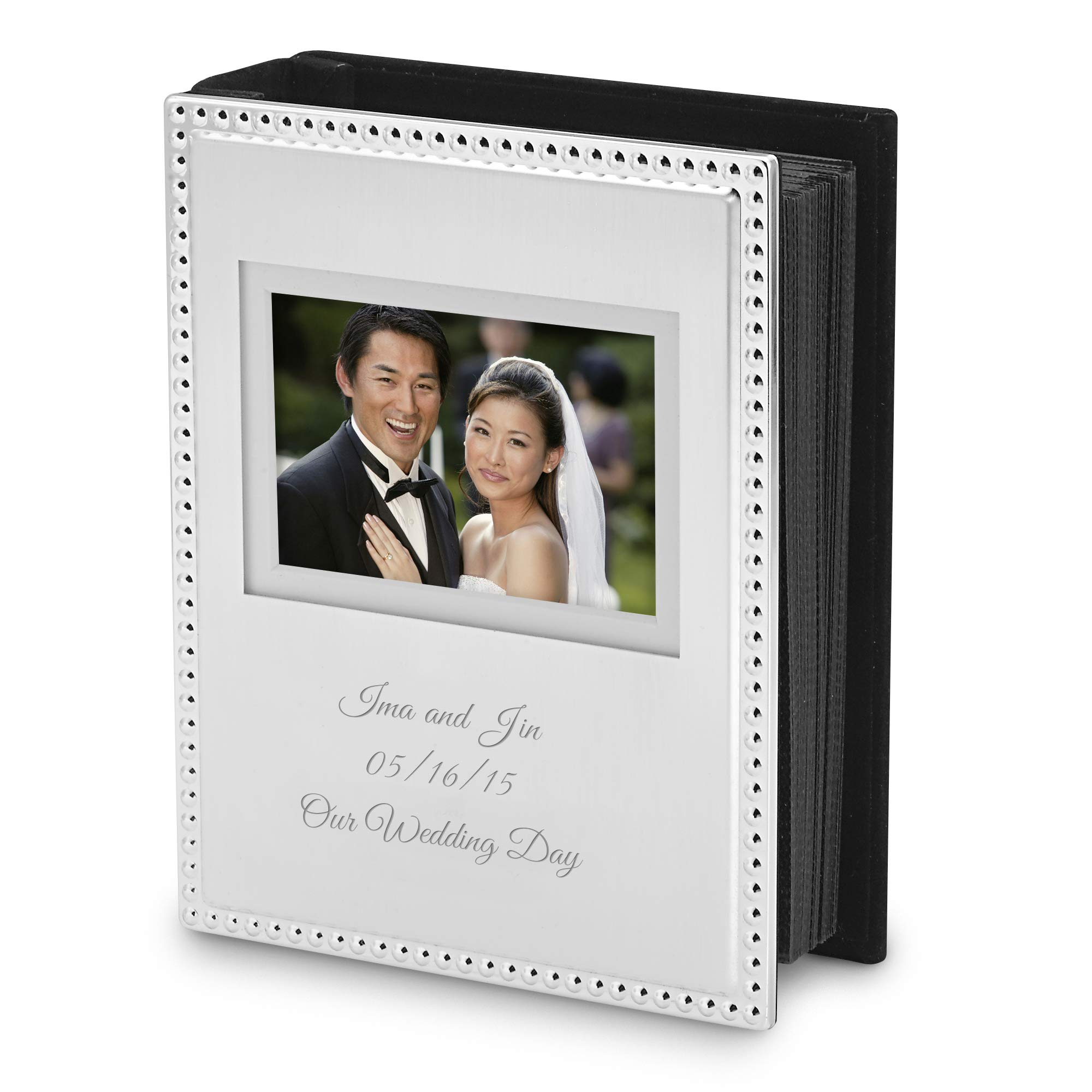 Things Remembered Personalized Beaded 4x6 Album with Engraving Included by Things Remembered