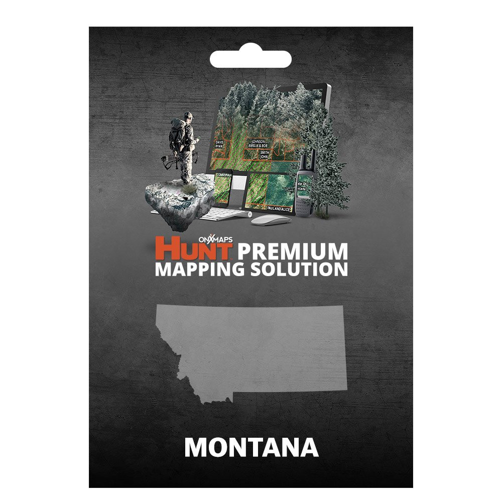 onXmaps HUNT Montana: Digital Hunting Map For Garmin GPS + Premium Membership For Smartphone and Computer - Color Coded Land Ownership - 24k Topo - Hunting Specific Data