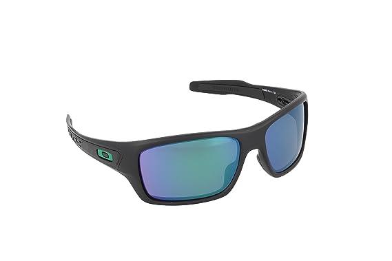 5dcfcdf1b9 Amazon.com  Oakley Mens Turbine Sunglasses Matte Black Jade  Clothing