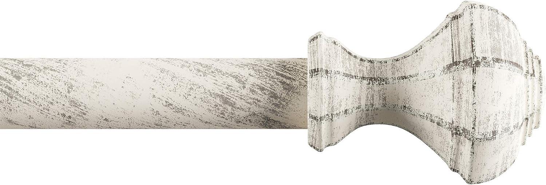 Lavish Home 1-Inch Curtain Rod, Distressed White