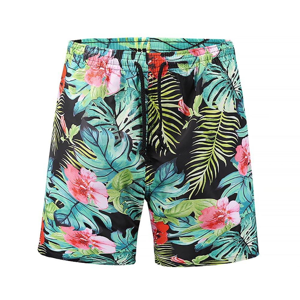 Azuki Mens Cool 3D Printed Quick Dry Swim Trunks with Pockets 2018 Fashion Shorts S-XL