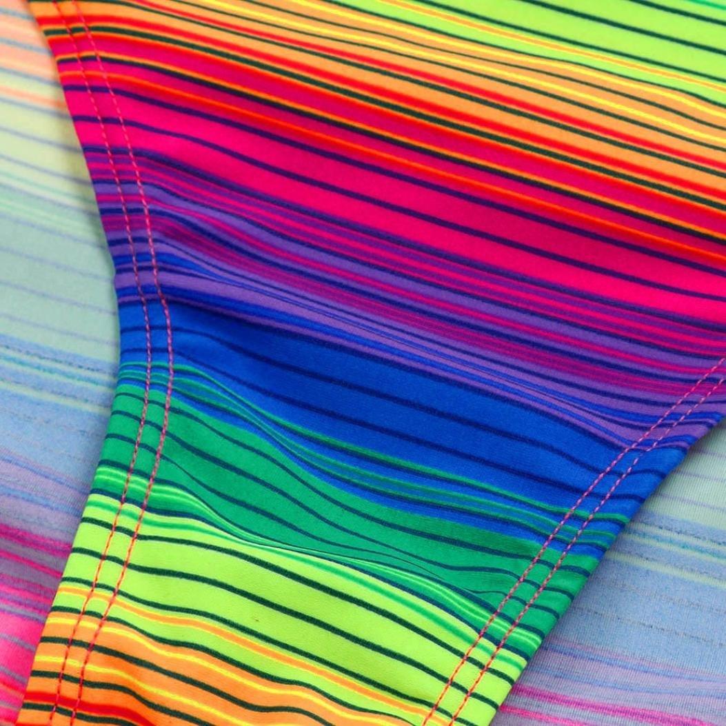 Kids Girl Children Gradient Striped Bathing Suit Two Piece Swimsuit Bikini Set 4-10Y Moonker Hot Sale Baby Swimwear