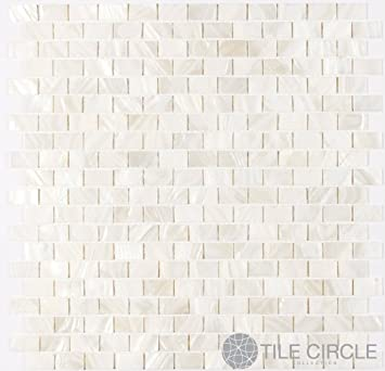 """Sample Size 4"""" x 4"""" Genuine Mother of Pearl Shell Tile White 5/"""