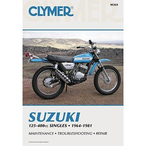 amazon com clymer suzuki 125cc 400cc singles 1964 1981 automotive rh amazon com Clymer Manuals Kawasaki Clymer Repair