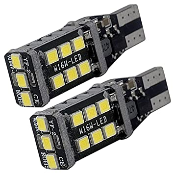 T10 W16W Bombillas LED Canbus Wedge 192 168 15-SMD 5050 para Coches trasera matrícula