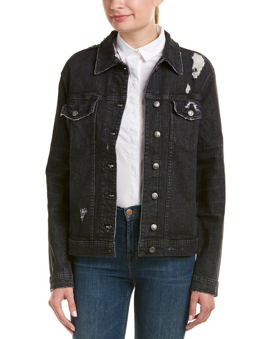 Joe's Jeans Womens Boyfriend Jacket, M, Black
