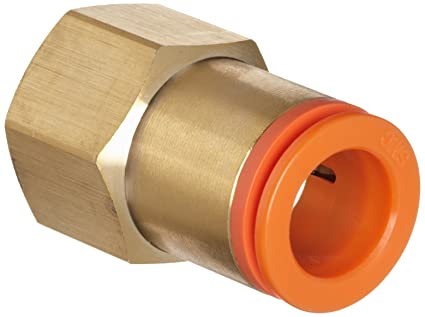 SMC KQ2F07-35A Brass Push-to-Connect Tube Fitting 1//4 Tube OD x 1//4 NPT Female Adapter