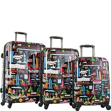 Heys America - Juego de maletas multicolor negro large: Amazon.es: Equipaje