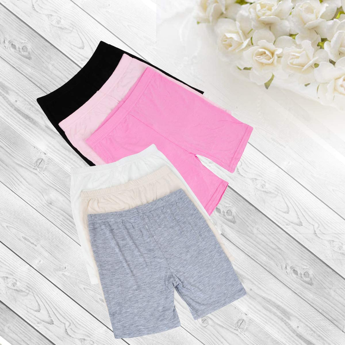 6 Pcs Girls Underwears,Zerototens 2-10 Years Old Toddler Kids Breathable and Safety Dress Girls Dance Shorts Safety Boxer Shorts Cotton Panties