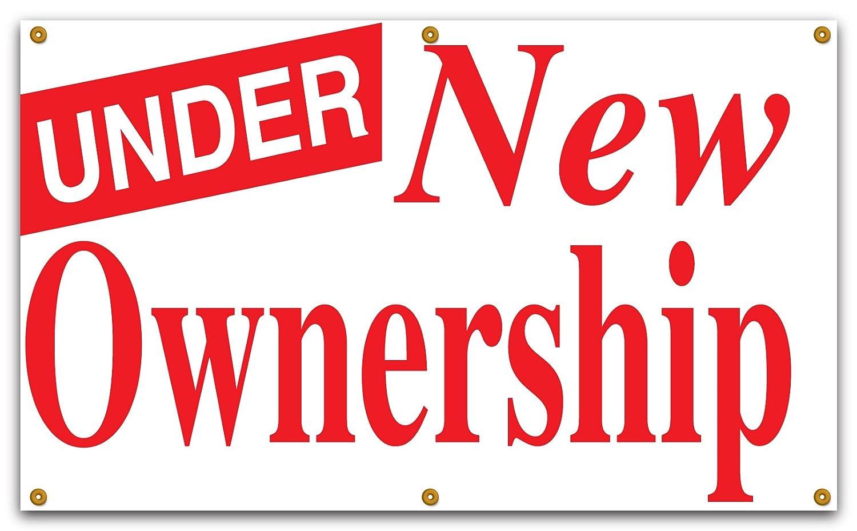 Lynch Signs 5フィートX 3 Ft。バナーレッドonホワイトビニールunder新しい所有権   B00IPJ600M