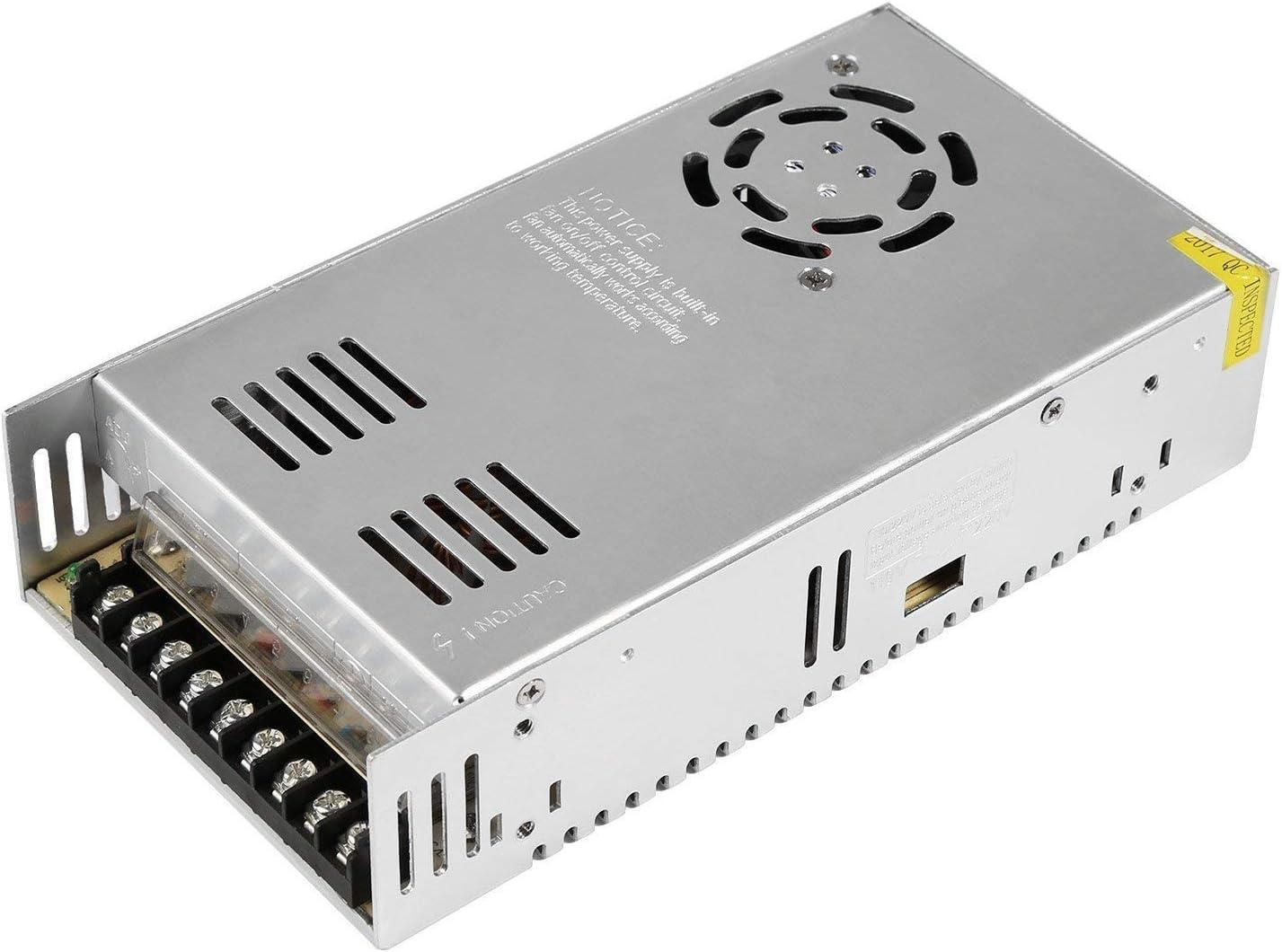 NEWSTYLE Fuente Alimentacion Transformador Interruptor DC 12V 30A 360W para CCTV, Radio, Proyecto de Computadora (12V 30A)
