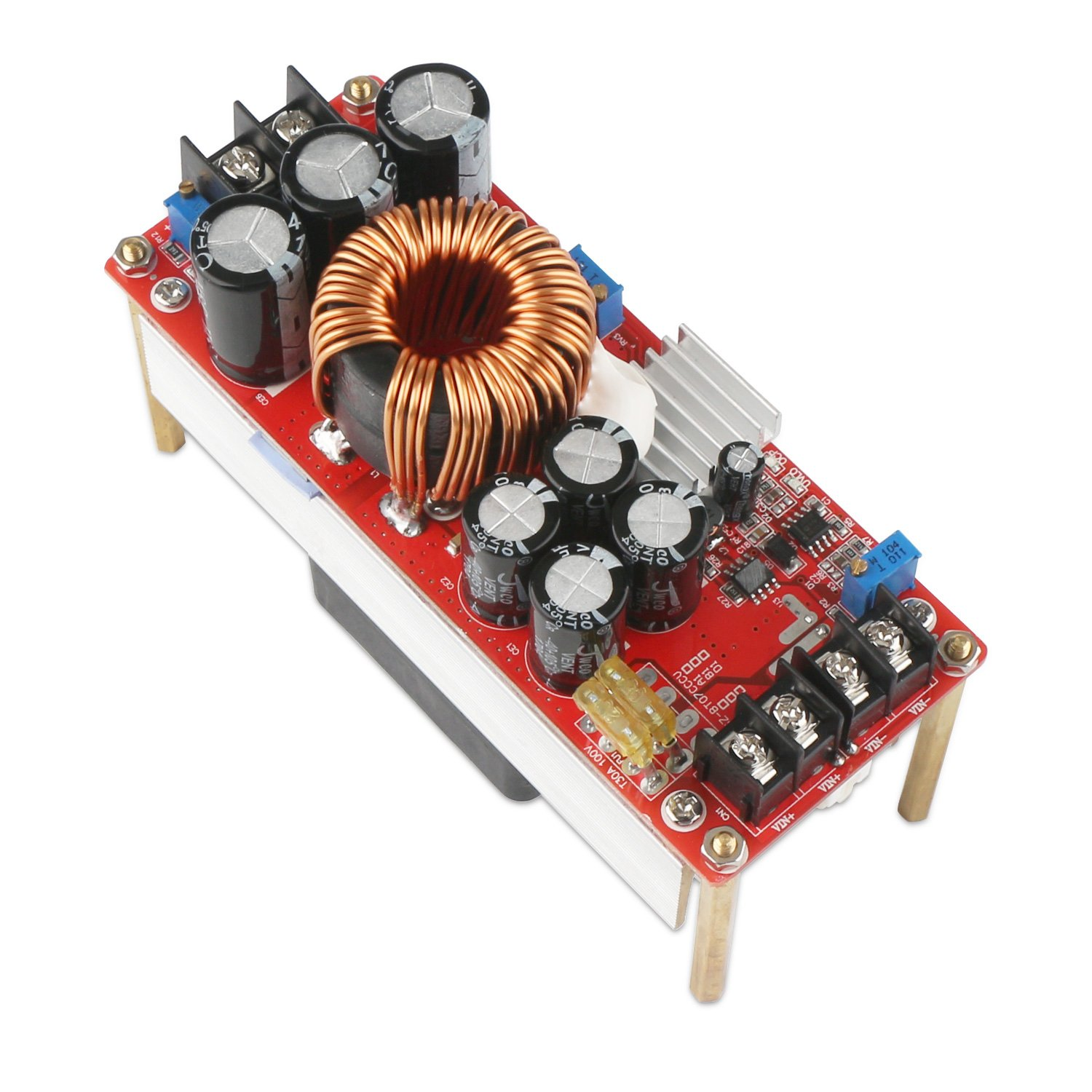 Boost Voltage Converter, DROK 1500W Voltage Regulator Booster DC 10V-60V 12V Step Up to DC 12V-90V 24V 30A Power Supply Module High Power Volt Transformer Circuit Board with Cooling Fan by DROK (Image #8)