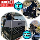 RuffLyfe DIY Crate Conversion/Bike Dog Carrier Package (Crate NOT Included) Padded Liner is 2 Sizes in One + 4 Point…