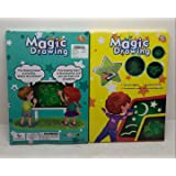 Educational Toy Magic Drawing Lighting Glow Writing Board Gift for Kids, A3 Size!!! Boys and Girls Edition!!! Spy Pen Included!