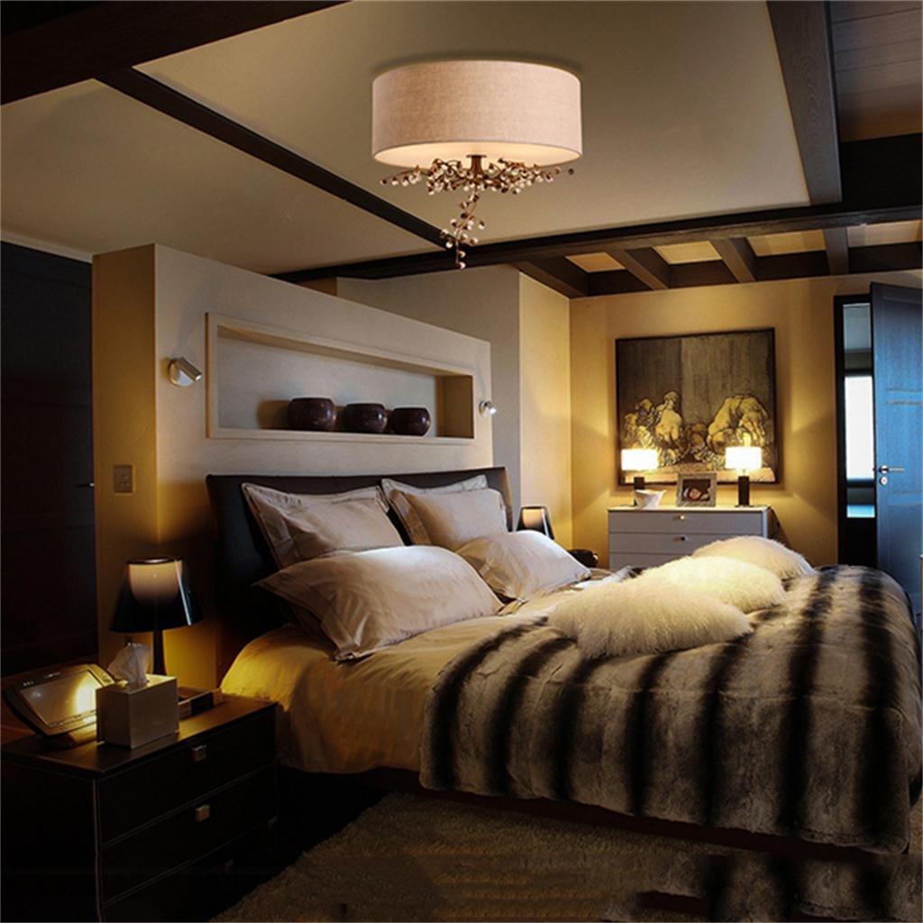 kreativ Haushalt Deckenleuchte Amerikanischen Kristall Continental Eisen pastoralen Tuch Blumen und romantische Hauptschlafzimmer Wohnzimmer Decke A+++