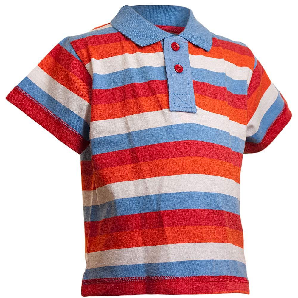 Sea Creatures Boyswear Boys Striped Polo Print T-Shirt