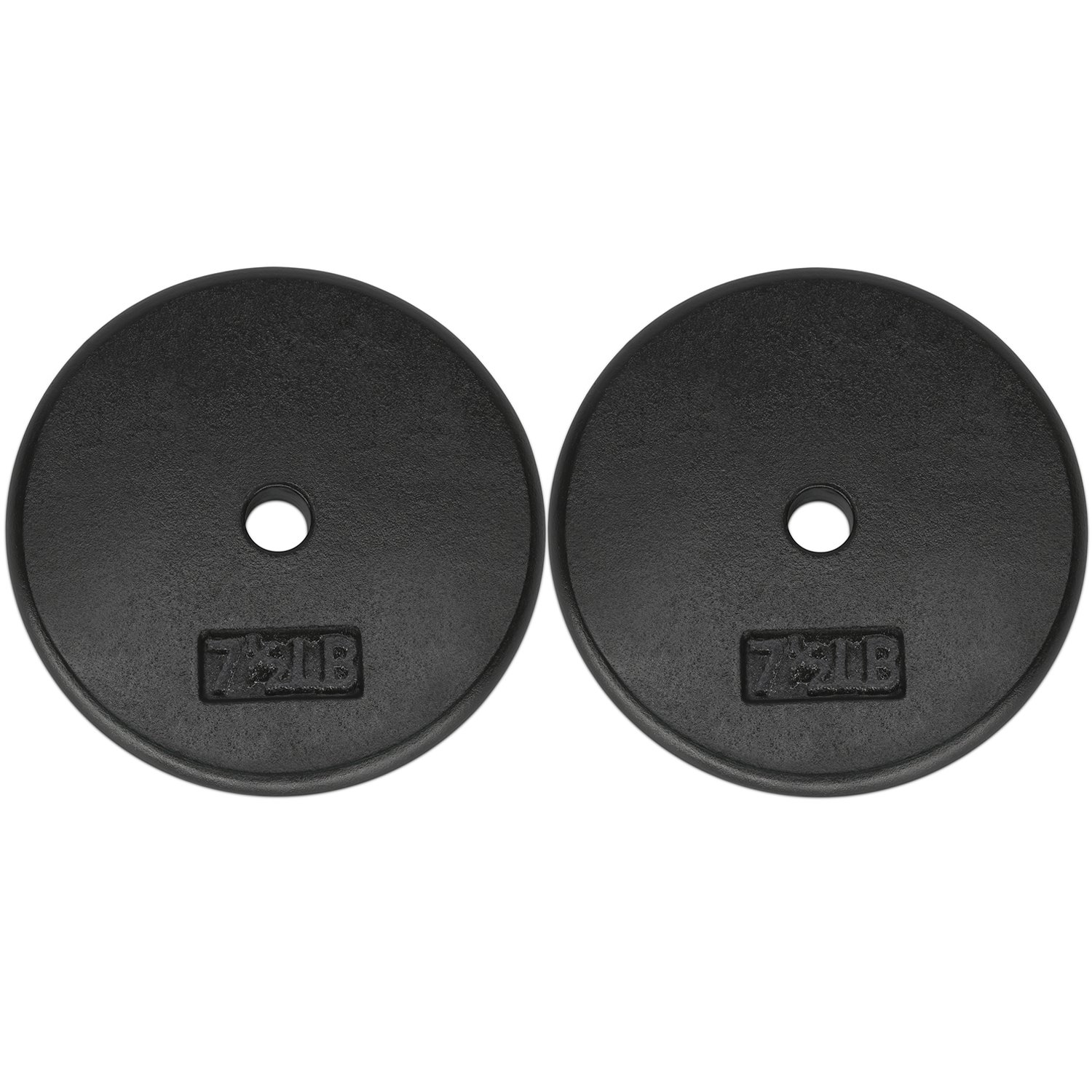 Yes4All 1-inch Cast Iron Weight Plates for Dumbbells – Standard Weight Disc Plates (7.5 lbs, Set of 2)