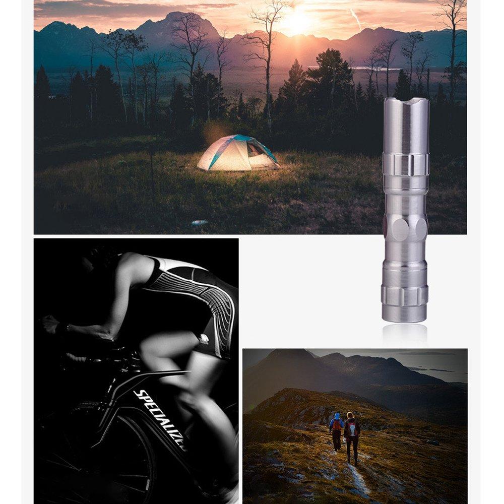 compacta Perfecto para Camping/ 3/pcs Naisicantar Linterna Mini Linterna de Bolsillo LED /Pesca/ F/ácil de Utilizar /Viaje/ /ER