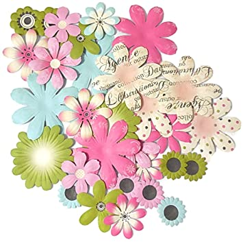 Amazon small paper flowers die cut cardstock for crafts card small paper flowers die cut cardstock for crafts card making scrapbooking gifts decorations assorted sizes mightylinksfo