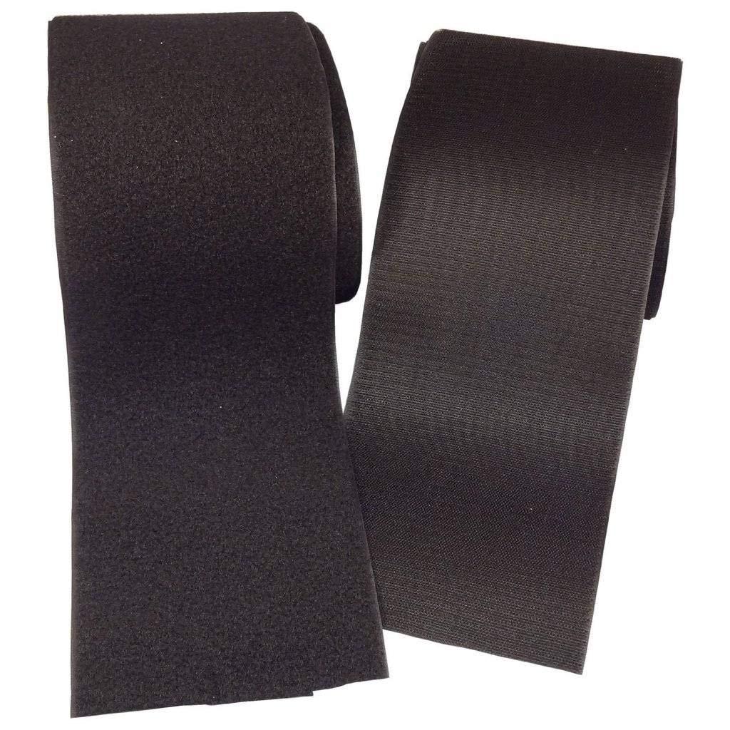 Ninepeak - 3 Inches Black Sew on Hook and Loop Style, 2 Yards