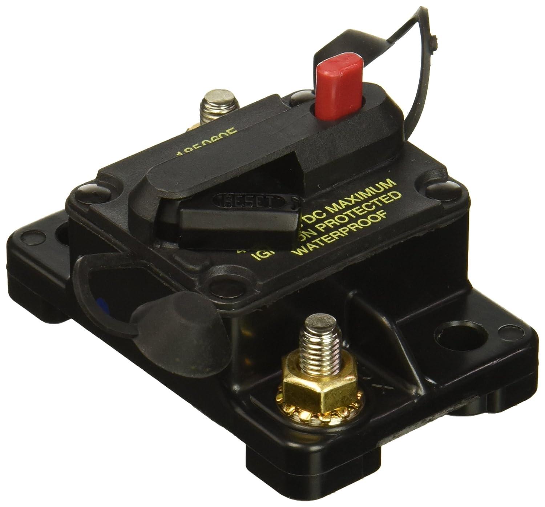 Bussmann CB185-60 Waterproof High Amp Flush Mount Type III (3) Circuit Breaker (60 Amp), 1 Pack BUSCB18560