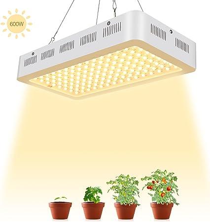 600 W DEL Grow Light Full Spectrum panneau maison lampe de cour intérieur Plante Hydroponique