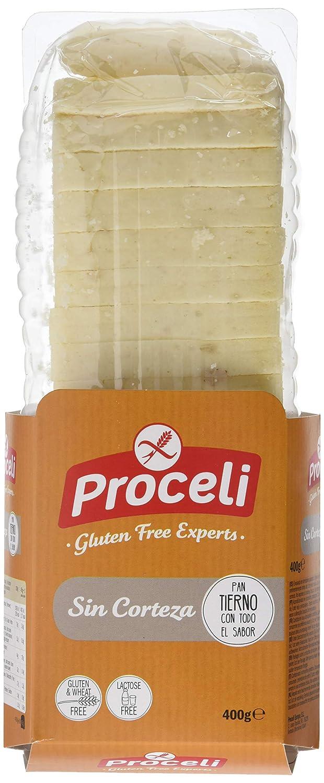 Proceli Pan de Molde Sin Corteza Sin Gluten - 400 gr: Amazon ...