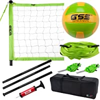 GSE Games & Sports Expert Portable Volleyball Set. Including Volleyball Net System and Volleyball with Pump