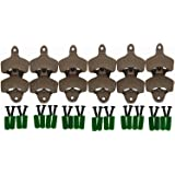 Dsmile Wall Mount Bottle Opener - Cast Iron 12 Pack Set - Vintage Rustic Bar