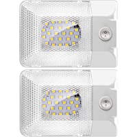 BlueFire 2 Pack DC 12V LED RV Ceiling Dome Light 300LM RV Interior Lighting Trailer Camper RV Lights Interior for Camper…