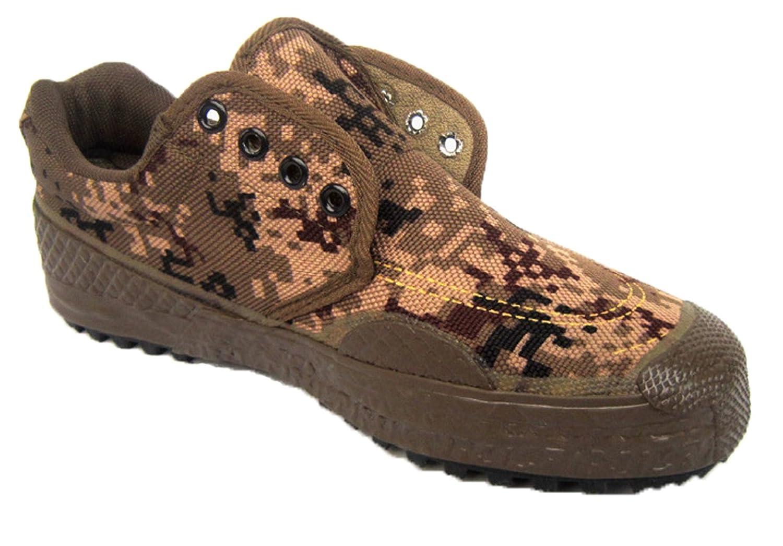 Fashionmore Men's Lace-up Camo Rubber Canvas Shoes