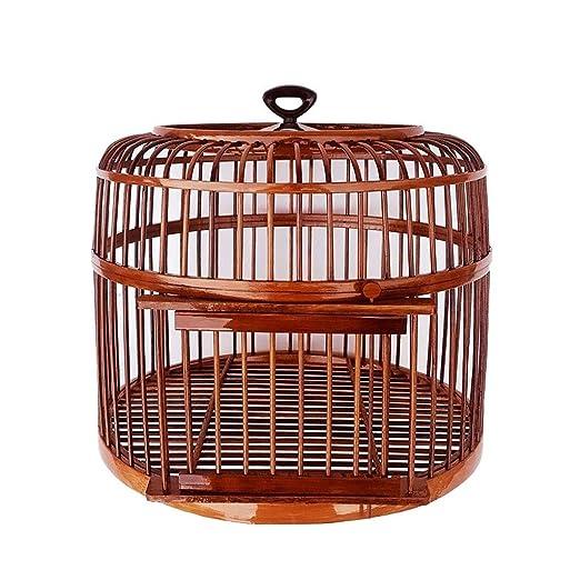 Bambú Jaula de pájaros Hecho a Mano Nido de pájaro Transpirable ...