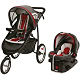 Graco FastAction Fold Jogger Click Connect Travel System, Chili Red (Discontinued by Manufacturer)
