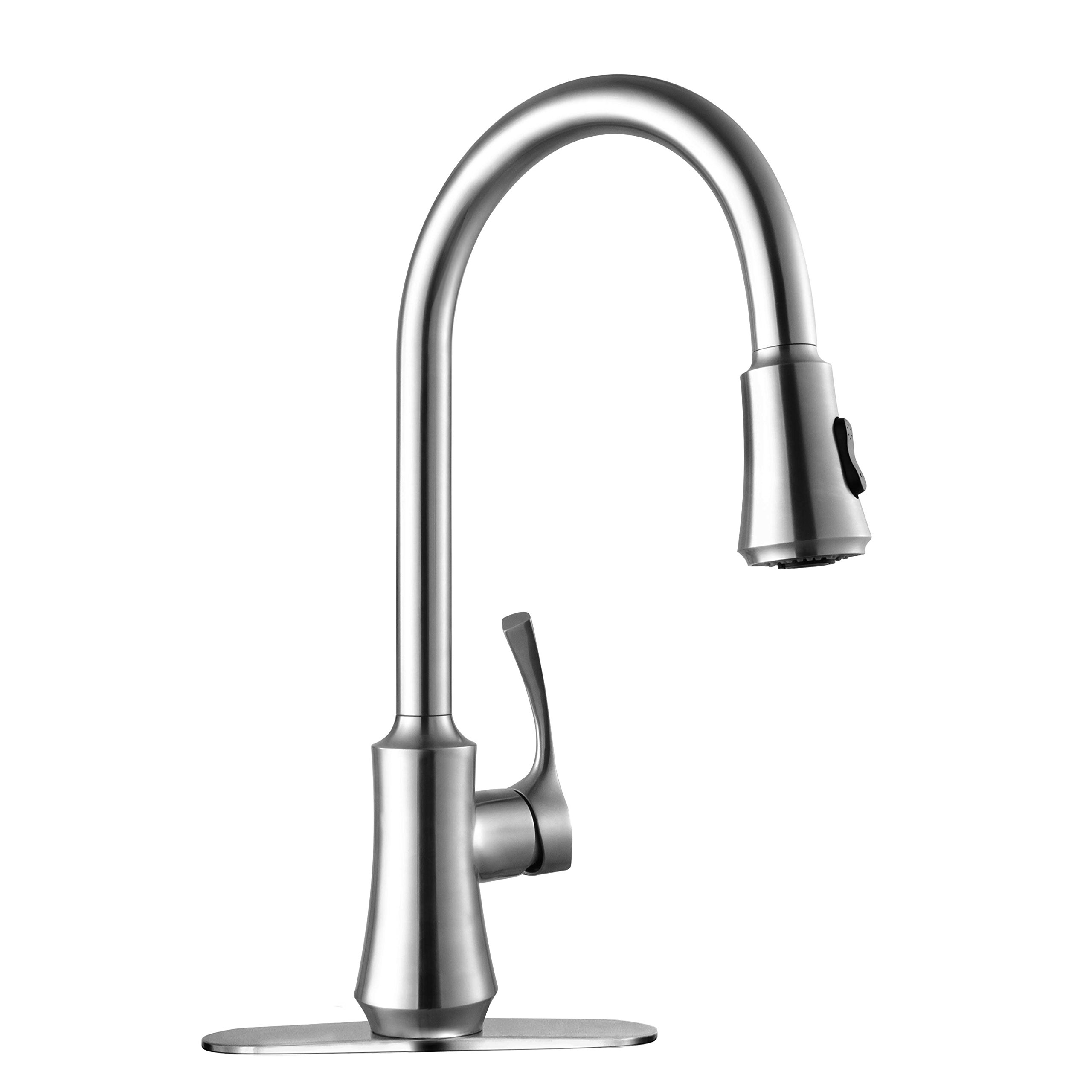 highest kitchen water gooseneck full of size faucets sprayer top simple faucet and rated companies touch white modern sink