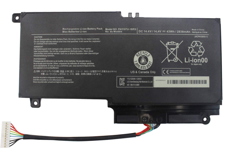 Bateria Para Toshiba L50 L50t-a L50dt-a P55 P55-a5312 P55-a5200 P55t-a5116 L50 L50-a Pa5107u-1brs 14.4v 43wh 12
