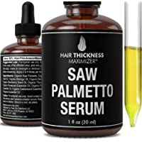 Organic Saw Palmetto Oil Serum. Stop Hair Loss Now by Hair Thickness Maximizer. Best Treatment for Hair Thinning. Hair…