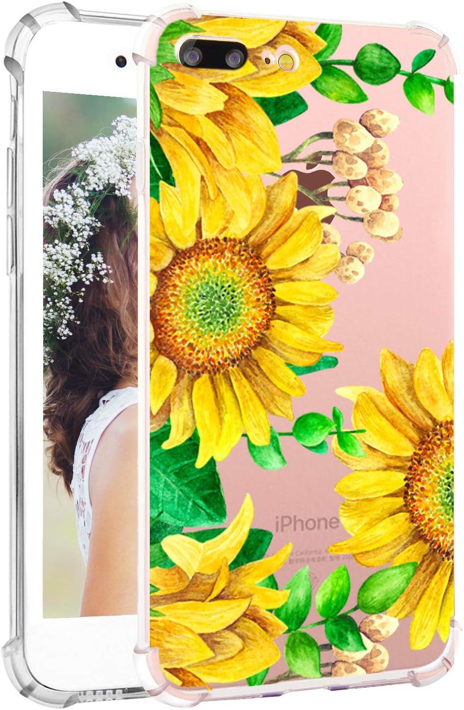Amazon Com Floral Iphone 7 Plus Case Sunflower Iphone 8 Plus
