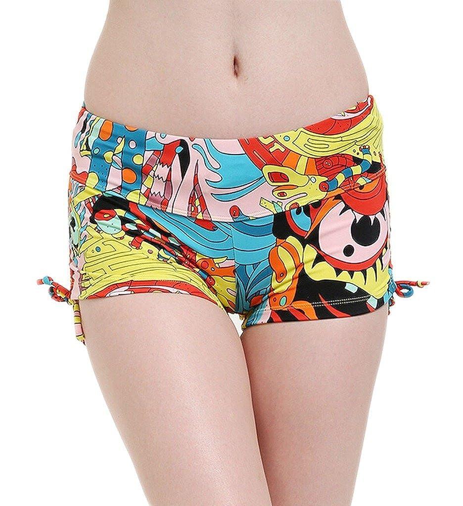 Papaya wear Uniarmoire Women's Printed Boardshorts Beach Short Swim Brief with Adjustable Ties PW17BSHORT