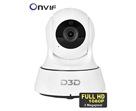 D3D Wireless Full HD (1920x1080)p 2.0 MP IP Wifi CCTV Indoor Security Camera (Support Upto 128 GB SD card) (White) Model:D6022Y Dome Cameras at amazon
